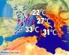 Meteo burrascoso Occidente, richiama aria molto calda dall'africa ecco le temperature