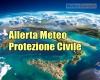ALLERTA meteo Protezione Civile: i dettagli del comunicato