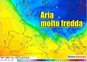 aria fredda su italia 350x250 - Meteo estremo: dal neppure Autunno verso l'Inverno