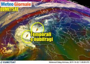 meteosat temporali esplosivi 350x250 - Bombe meteo: temporali cattivissimi in azione. Evoluzione ITALIA