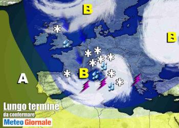 meteo burrascoso con primavera fredda 350x250 - Meteo sino 11 Marzo: STOP Primavera precoce, INVERNO irrompe su Italia