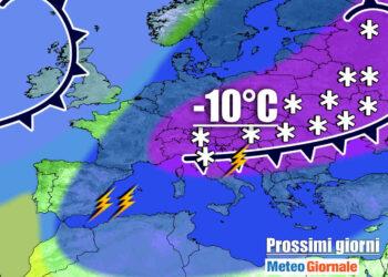 meteo instabile con aria fredda 350x250 - Meteo con intrusione di aria fredda: oggi crollo temperatura, neve a quote basse