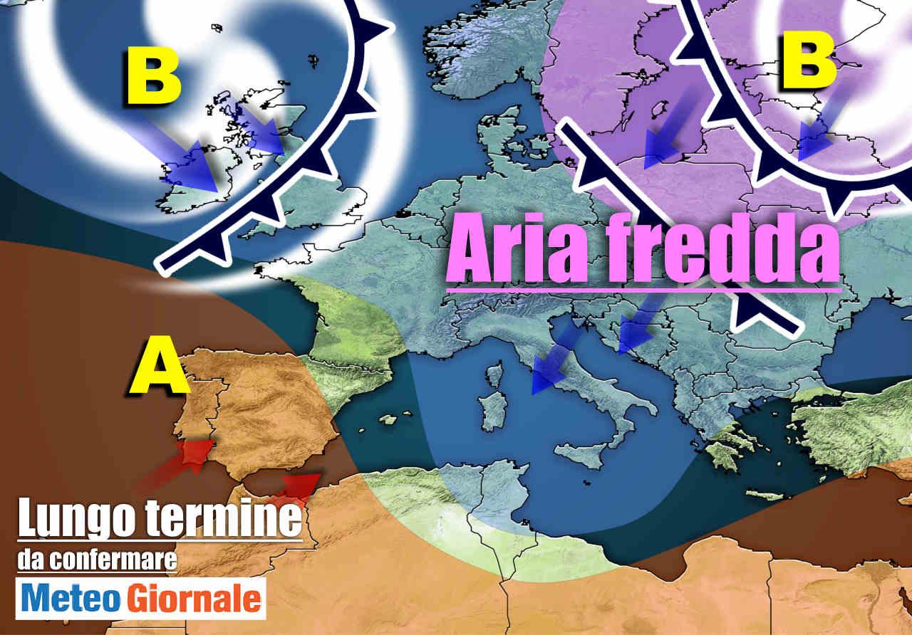 meteo lungo termine con aria fredda - Meteo Italia al 18 Marzo, dal MITISSIMO Anticiclone ai colpi di coda d'INVERNO