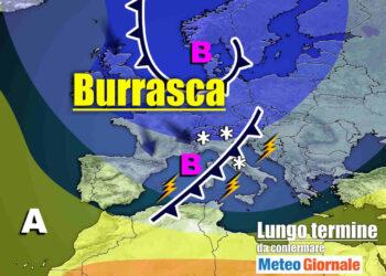 meteo lungo termine con tempo invernale 350x250 - Meteo Italia sino al 6 aprile, continuerà a far FREDDO invernale