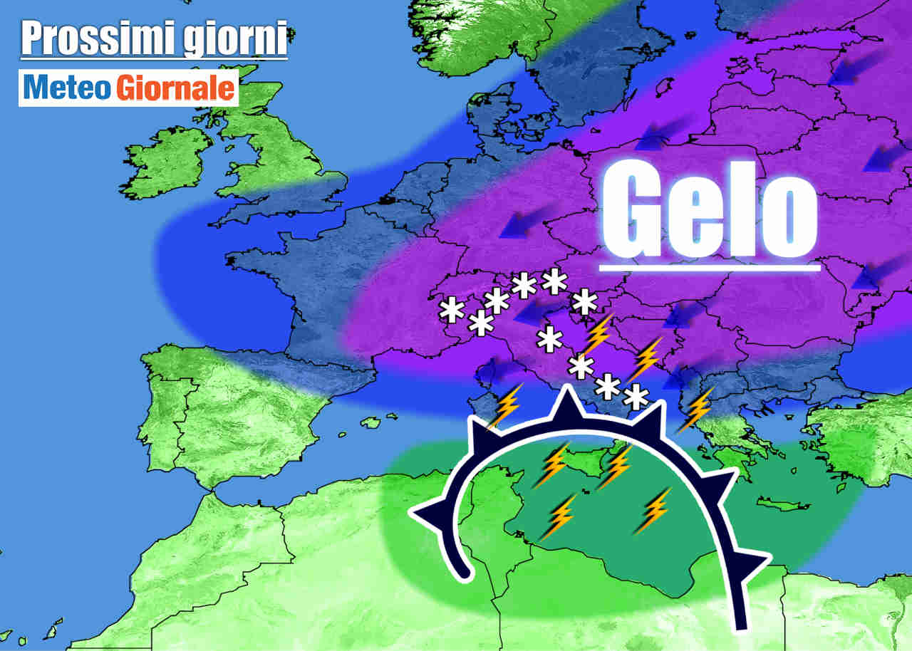 meteo prossimi giorni aria fredda neve - Meteo Italia: arriva il VERO INVERNO, con FREDDO, NEVE in pianura e vento