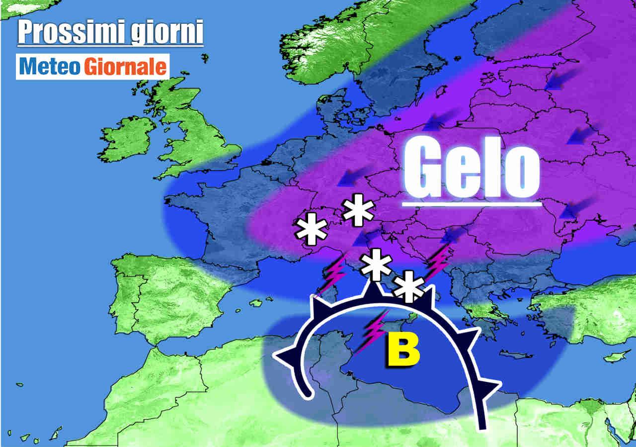 meteo prossimi giorni con aria fredda dalla russia - Meteo Italia: dopo il weekend irrompe il VERO INVERNO. NEVE fino in pianura