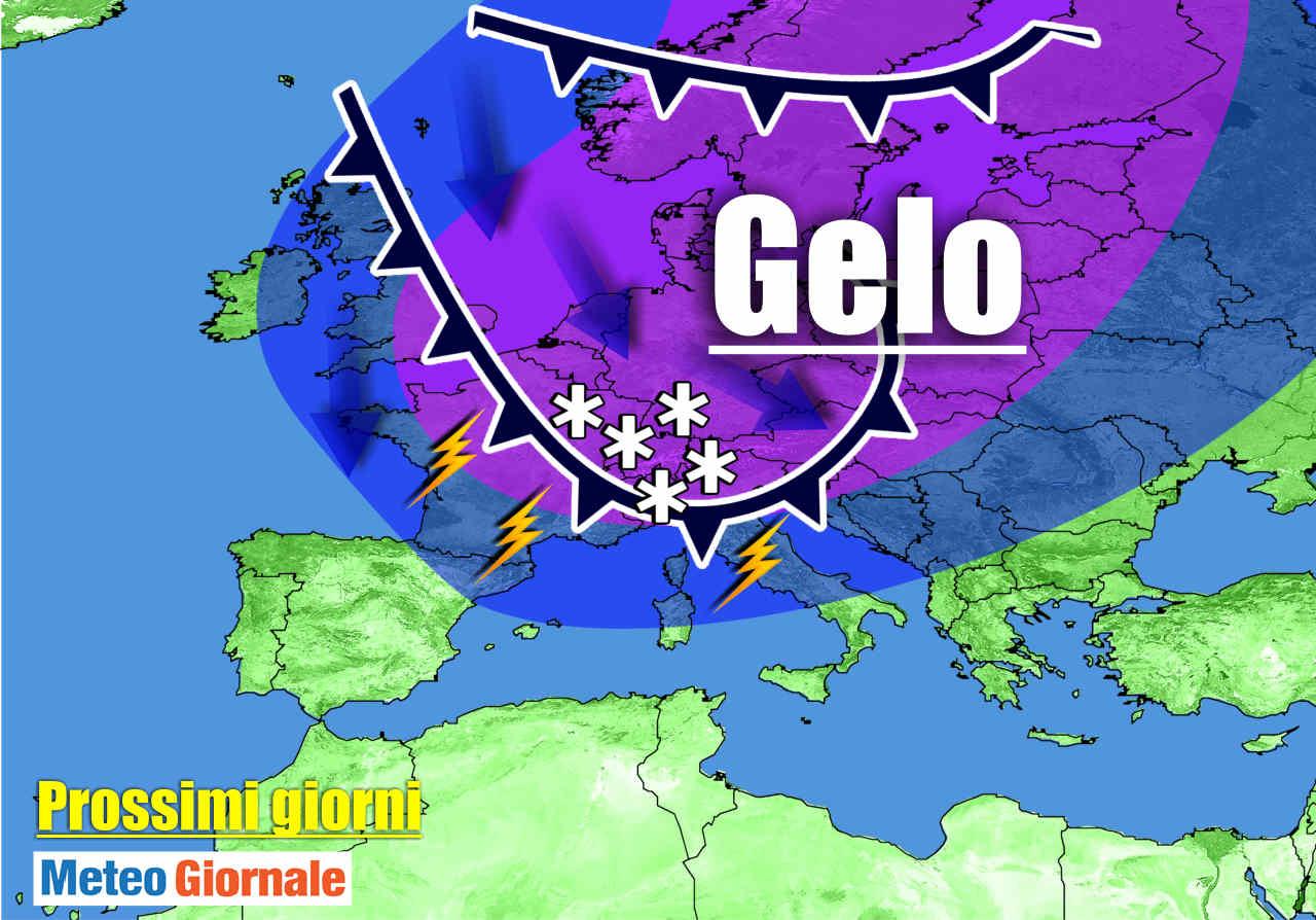 meteo prossimi giorni con irruzione aria molto fredda - Meteo Italia: blitz d'INVERNO, aria fredda con Burrasca