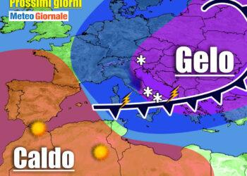 meteo prossimi giorni con neve al sud 350x250 - Meteo Italia sino al 20 Marzo: si sveglia il vento dell'Est