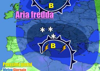 previsioni meteo prossimi giorni con maltempo 350x250 - Meteo Italia: nuova Perturbazione Domani, poi ANTICICLONE: durata