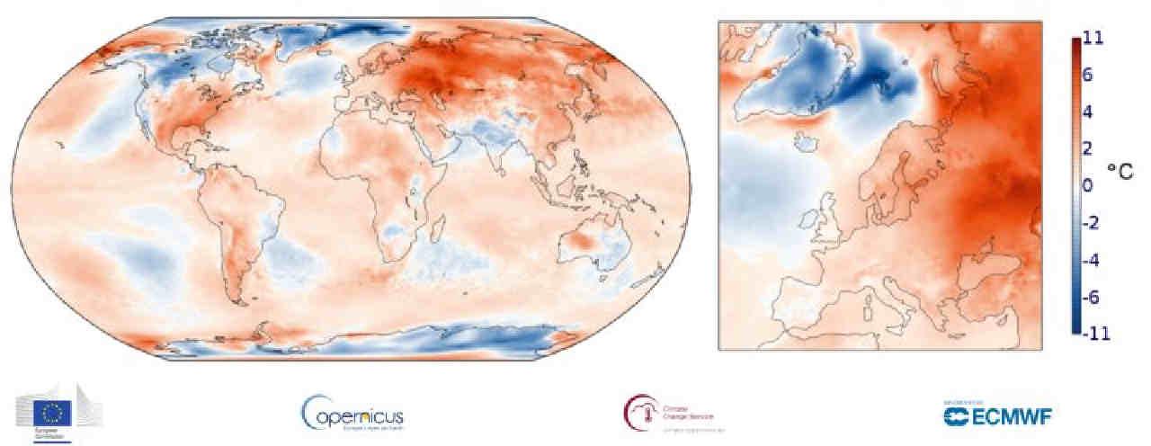 copernicus marzo 2020 - Com'è stato marzo? I dati sono sorprendenti