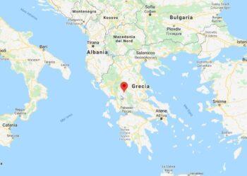 mappa grecia neve 350x250 - Grecia, paesaggi fiabeschi sotto la neve d'Aprile. Video meteo