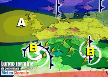 meteo lungo termine instabile primaverile 350x250 - Meteo Italia sino al 12 aprile, a Pasqua ANTICICLONE con incognita TEMPORALI