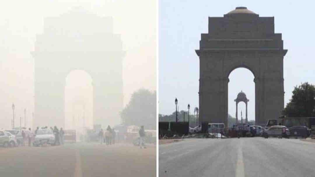 new delhi - CORONAVIRUS, prima e dopo il lockdown: VIDEO impressionanti dalle città