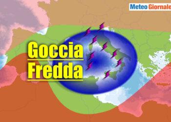 goccia aria fredda italia meteo temporalesco 350x250 - Bombe meteo: temporali cattivissimi in azione. Evoluzione ITALIA
