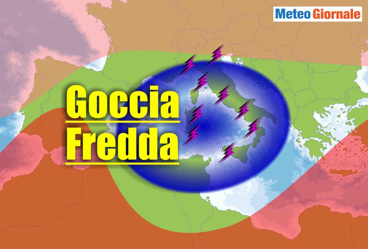 goccia aria fredda italia meteo temporalesco - Goccia fredda piomba su ITALIA con acuto maltempo temporalesco