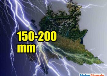 nubifragio milano 350x250 - Clamoroso nubifragio da 200 mm a Milano, altro che pioggerella: è meteo estremo