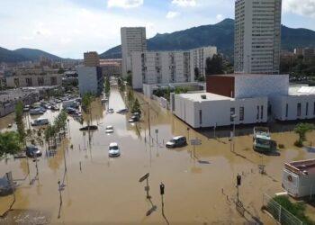 ajaccio tempesta 350x250 - Corsica, Ajaccio, alluvione storica