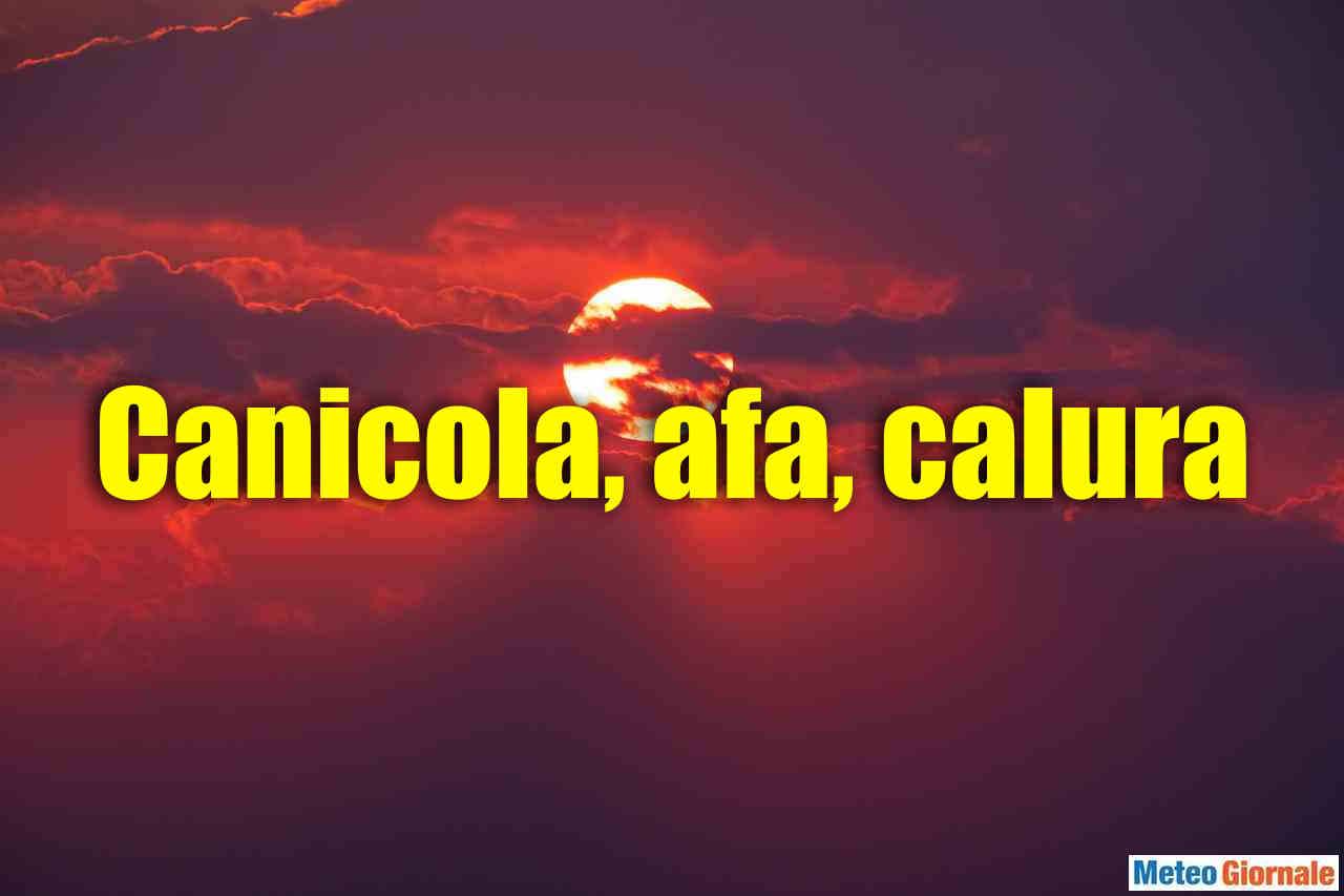 canicola afa calura - CALURA D'AFRICA, c'è da soffrire