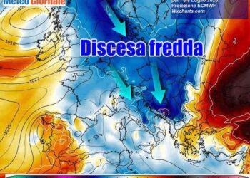 discesa fredda 350x250 - Meteo: clamoroso ribaltone CRISI DELL'ESTATE in pieno Luglio. CONFERMATO