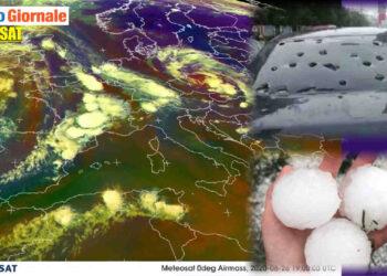 meteo burrascoso in europa con grandine devastante 350x250 - METEO al 10 Giugno: eccezionale serie di TEMPORALI. Rischio GRANDINE