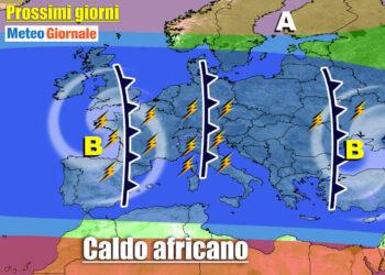 meteo prossimi giorni temporali poi aumento temperatura 350x250 - METEO al 10 Giugno: eccezionale serie di TEMPORALI. Rischio GRANDINE