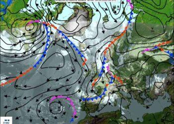 situazione meteo 350x250 - Bassa Pressione autunnale sull'Europa. Ma è Giugno!