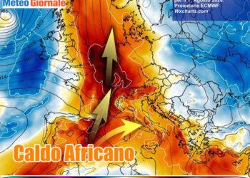 1ago 350x250 - Meteo Italia sino al 24 luglio, i TEMPORALI tra l'AFA ed il caldo d'Africa