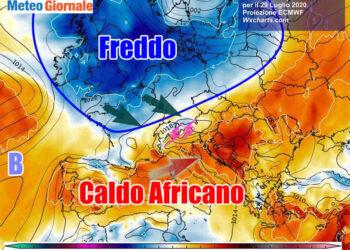 africano 350x250 - METEO sino 10 Luglio:  Temporali Sud, poi torna il CALDO Anticiclone d'Africa
