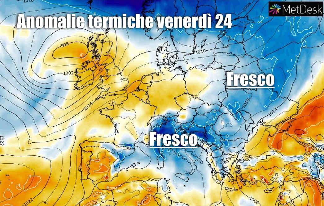 anomalie termiche - Meteo davvero stravolto dal FRESCO insolito. E l'Estate?