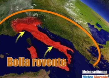 bolla 350x250 - Meteo Italia sino al 24 luglio, i TEMPORALI tra l'AFA ed il caldo d'Africa
