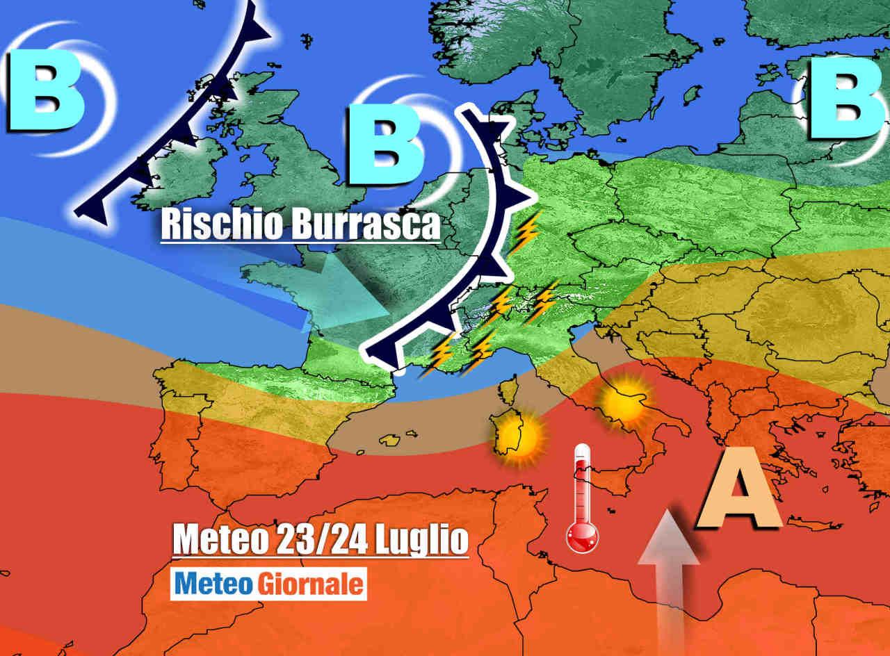 burrasca 2 - Meteo Italia CALDO molto INTENSO! Poi VIOLENTI TEMPORALI anche con GRANDINE