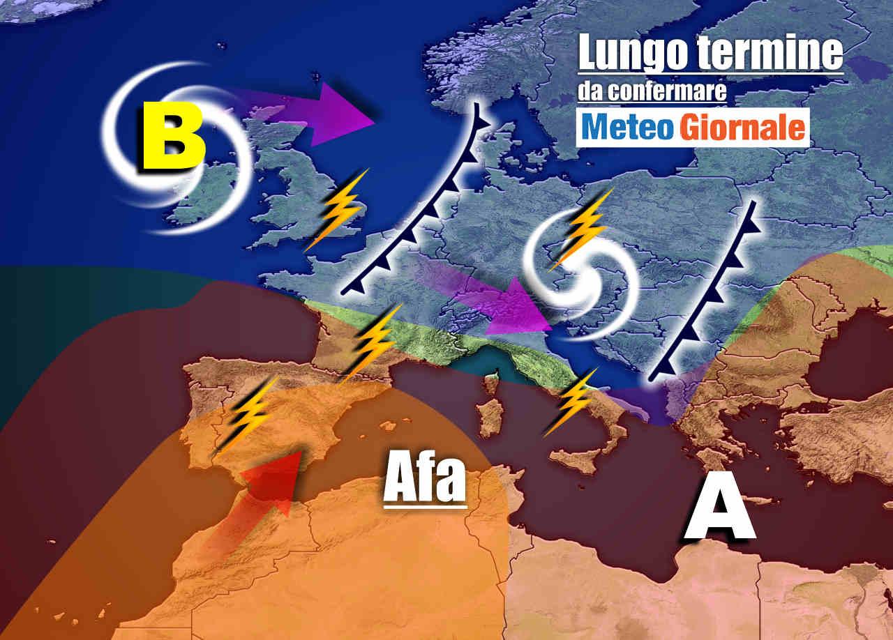 meteo 12 luglio - Meteo Italia sino al 12 luglio, tra picchi d'AFA e rapide RINFRESCATE