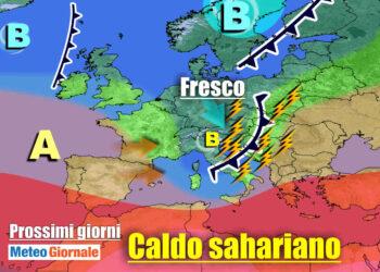meteogiornale 7 g 1 350x250 - Sconquasso meteo imponente: POTENTI TEMPORALI scalzeranno la bolla africana