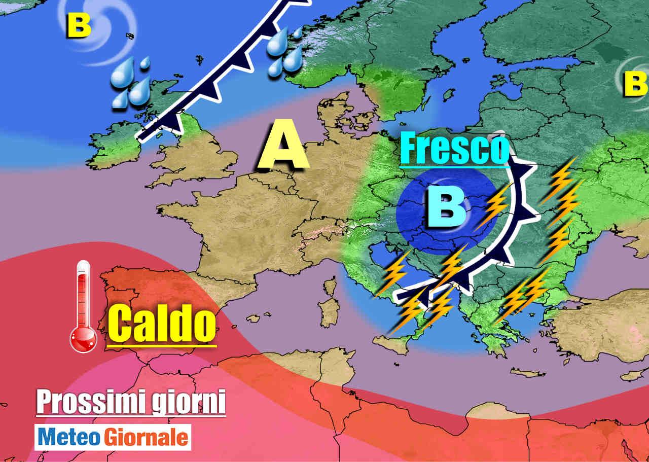 meteogiornale 7 g 16 - METEO 7 Giorni: altri TEMPORALI, poi ..... ESTATE in crisi di nuovo