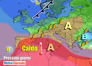 meteogiornale 7 g 19 350x250 - Meteo settimana prossima: caldo rovente. Molto afoso in pianura