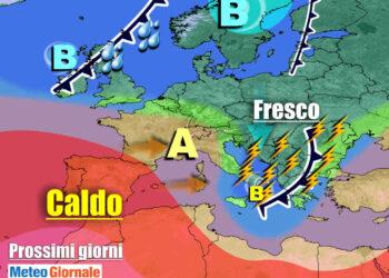 meteogiornale 7 g 2 350x250 - Sconquasso meteo imponente: POTENTI TEMPORALI scalzeranno la bolla africana