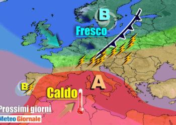 meteogiornale 7 g 21 350x250 - METEO sino 10 Luglio:  Temporali Sud, poi torna il CALDO Anticiclone d'Africa
