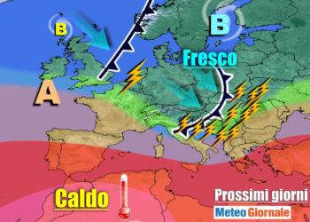 meteogiornale 7 g 25 350x250 - Meteo Italia: nuova Perturbazione Domani, poi ANTICICLONE: durata