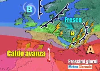 meteogiornale 7 g 26 350x250 - Meteo Italia sino al 24 luglio, i TEMPORALI tra l'AFA ed il caldo d'Africa