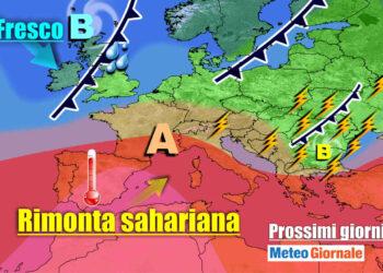 meteogiornale 7 g 27 350x250 - Meteo Italia sino al 24 luglio, i TEMPORALI tra l'AFA ed il caldo d'Africa