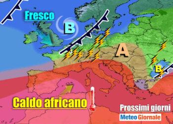 meteogiornale 7 g 28 350x250 - Ecco i 40 GRADI, il caldo estremo che terrorizza