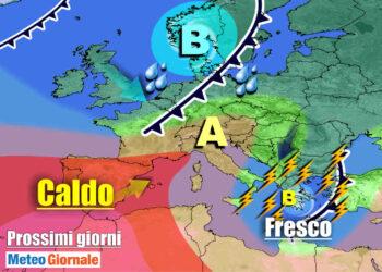 meteogiornale 7 g 3 350x250 - Sconquasso meteo imponente: POTENTI TEMPORALI scalzeranno la bolla africana