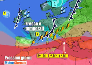 meteogiornale 7 g 350x250 - CALDO in aumento verso inizio Luglio, ecco la CANICOLA