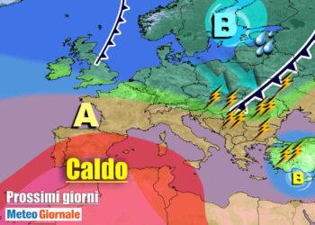 meteogiornale 7 g 5 350x250 - Sconquasso meteo imponente: POTENTI TEMPORALI scalzeranno la bolla africana