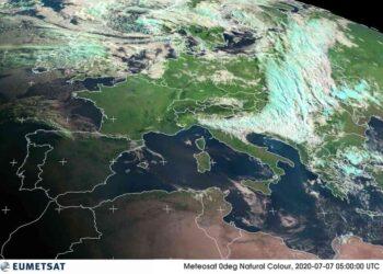 rapida perturbazione in tansito su italia 350x250 - Anno senza ESTATE: meteo stravolto. Il caldo ci sarà comunque
