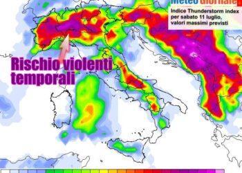 thunder 350x250 - Sconquasso meteo imponente: POTENTI TEMPORALI scalzeranno la bolla africana