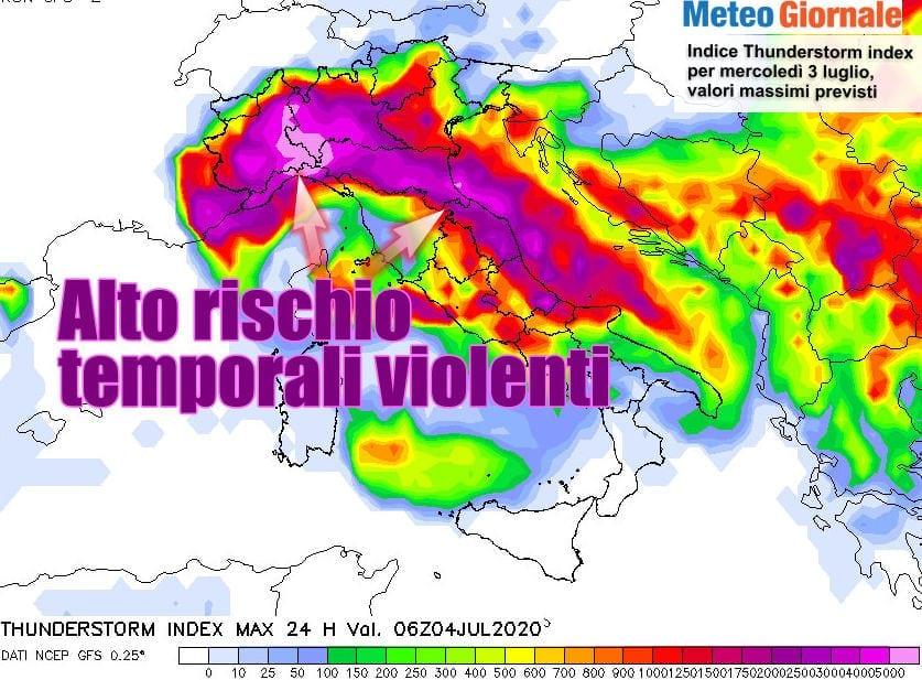 tsi - Meteo esplosivo al Nord Italia: grandine grossa, eventi estremi, cause