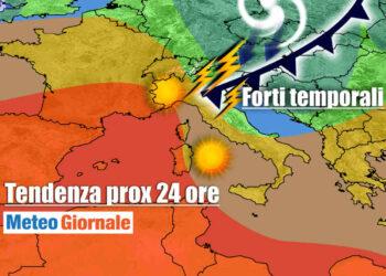 venire 350x250 - Sconquasso meteo imponente: POTENTI TEMPORALI scalzeranno la bolla africana