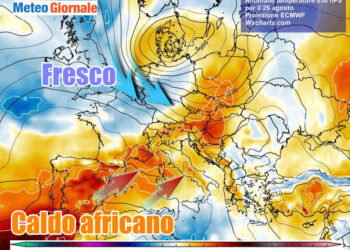 africano 350x250 - Meteo settimana prossima: caldo rovente. Molto afoso in pianura