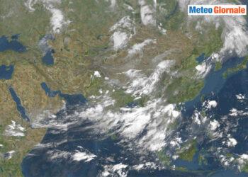 foto meteosat con il monsone estivo 350x250 - E' la stagione delle vere piogge monsoniche. Video Meteo